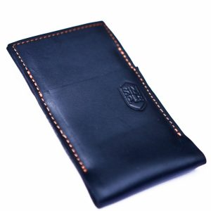 Case iPhone Wallet Stand Simple color negro