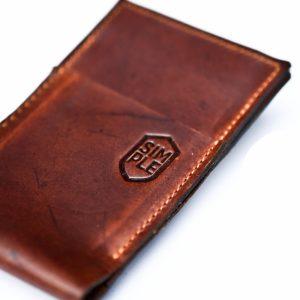 Case iPhone Wallet stand marca Simple color café