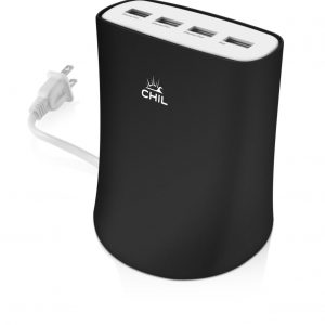 Powerbank 4 Puertos Chil Power Color Negro