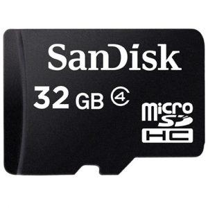 Tarjeta MicroSD marca SanDisk de 32gb