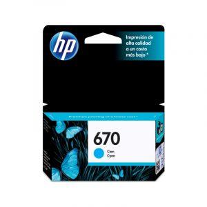 Cartucho HP 670 Cian