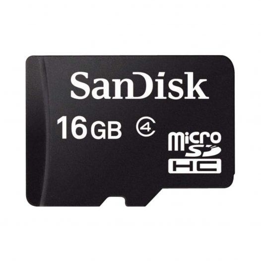 Tarjeta MicroSD de 16GB Clase 4 marca Sandisk para Android