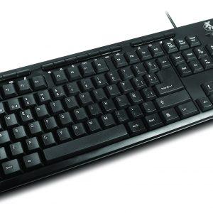 Teclado alámbrico multimedia  Xtech  XT-130 en español color negro