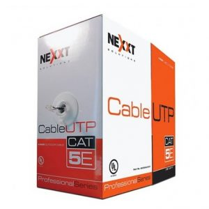 Cable UTP CAT 5E 4 Pares Trenzado para Exteriores de 305 m Color Negro Marca Nexxt
