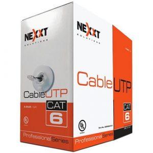 Cable UTP CAT6 4 Pares Trenzado de 305 m Color Azul Marca Nexxt