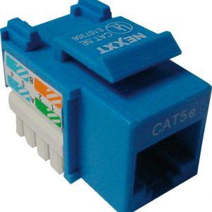 Módulo para Terminación RJ-45 Categoría CAT 5E Tipo 110 Color Azul Marca Nexxt