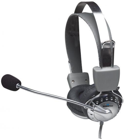 Audífonos Manhattan headset micrófono ajustable