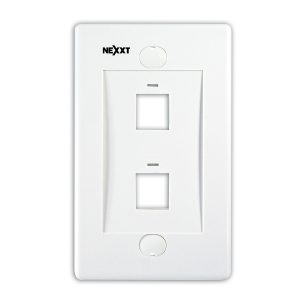 Placa de Pared para 2 Puertos Color Blanco Marca Nexxt