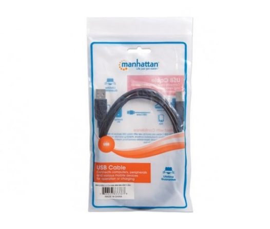 Cable Manhattan USB 2.0 negro 1.8mts