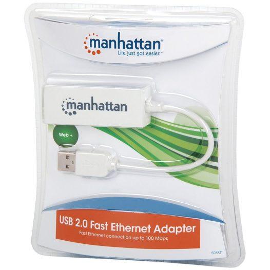 Adaptador de red USB 2.0 ethernet Manhattan
