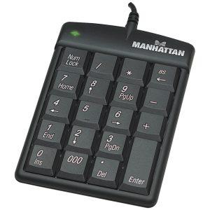 Teclado USB Manhattan en ingles color negro