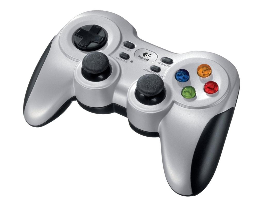 Gamepad Inalambrico Logitech F710 2.4GHZ con vibración 10 botones -0