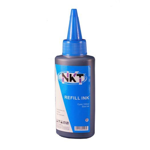 Botella de Tinta NKT color cyan