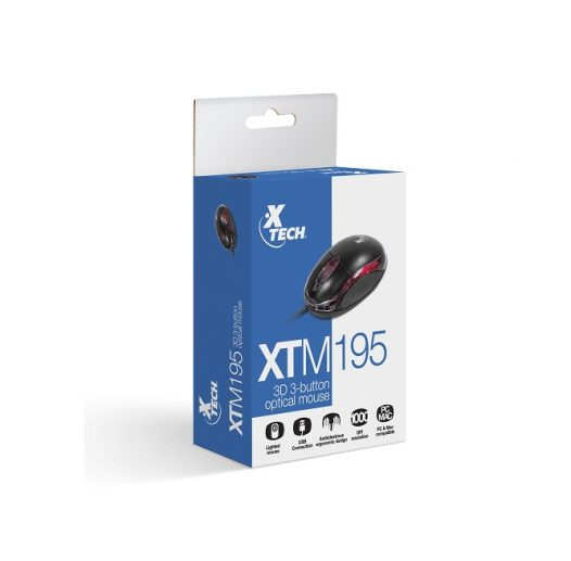 Mouse Alambrico Mini Xtech XTM-195