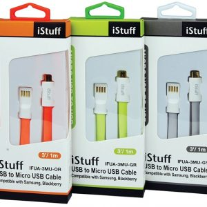 Cable de Carga Micro USB iStuff Flexible Color Verde de 1m