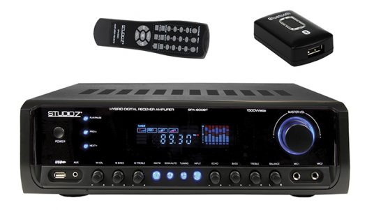AMPLIFICADOR STUDIO Z, C/ USB/FM/BLUETOOTH/MP3