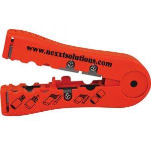 Pelador y Cortador de Cables universal Color Naranja Marca Nexxt