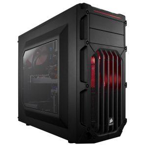 Case Corsair Carbide SPEC-03 Color Negro con Rojo Sin Fuente