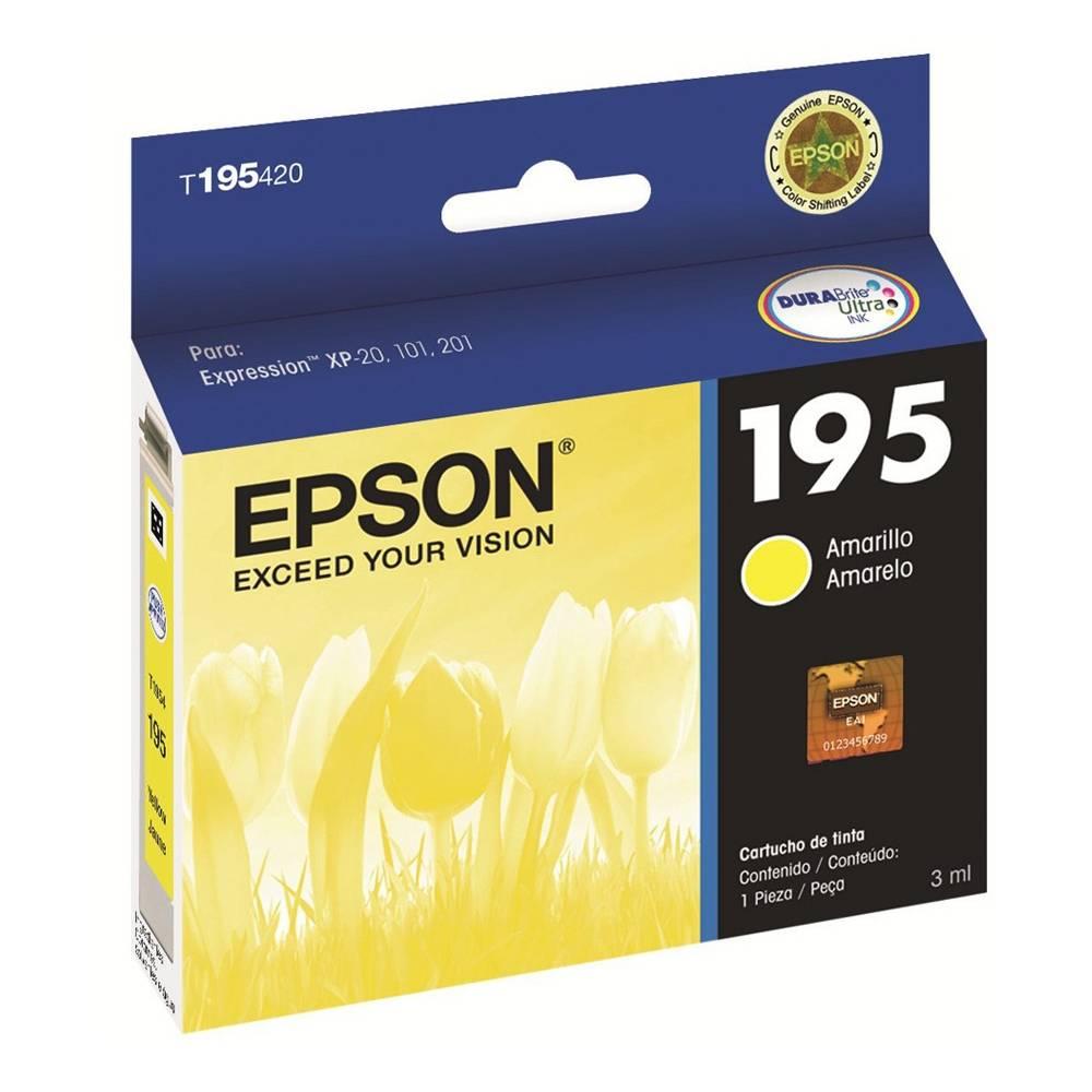 Cartucho original Epson 195 amarillo