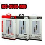 Cable Enrollado Istuff 3.5 A 3.5, Stereo 6' Rojo