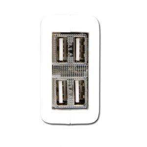Cargador iStuff cuadruple para pared 4 USB 2.1A 110-240V