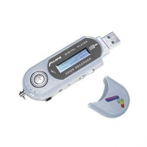 Reproductor de audio Mitzu plata pantalla LCD