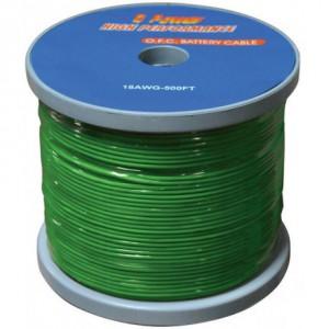Cable Audiopipe Primario Cal. 14, Verde 500'