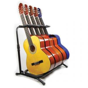 Pedestal Zebra para 5 Guitarras Color Negro