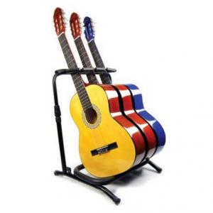 Pedestal Zebra para 3 Guitarras