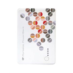 Powebank GP 10400 mAh Dual USB Color Blanco Estampado
