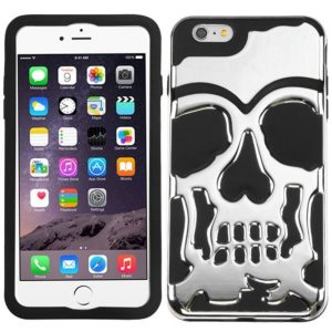Case iPhone 5/5S calavera plateado/negro