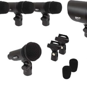 Set De 7 Piezas De Micrófonos Skp P/ Bateria
