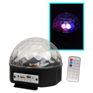 Luz led zebra mini cristales C/Reproductor mp3/bluetooth C/R