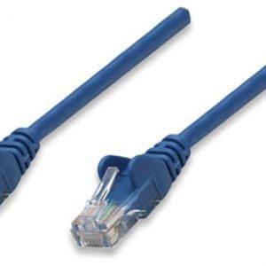 Cable de Red CAT5E Color Azul de 0.3m Intracom