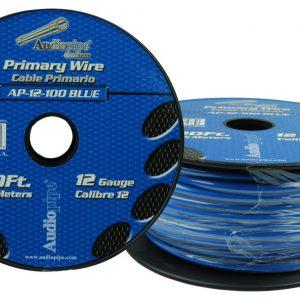 Cable Audiopipe Primario Calibre 12 Azul 100'