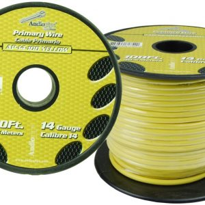 Cable Audiopipe Primario Calibre 14 Amarillo 100'