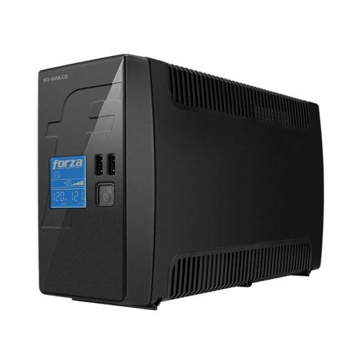 UPS Interactivo de 600VA con 8 Salidas Pantalla LCD marca Forza