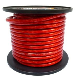 Cable Audiopipe P/ Corriente Cal. 4, 250' Rojo