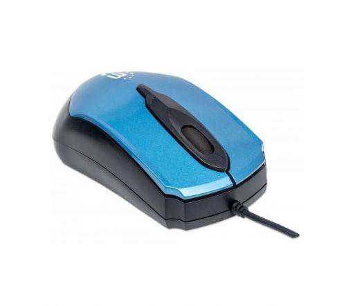 Mouse Alambrico Manhattan Color Azul
