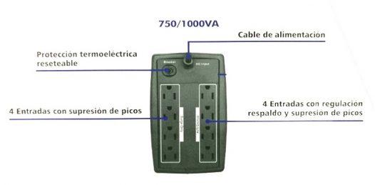 UPS Centra 750VA LCD Interactivo 8 tomas