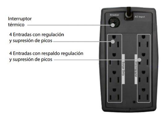 UPS Centra 1000VA LCD Interactivo 8 Tomas