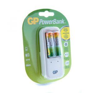 Cargador GP 110V con 2 baterias AA 2100mAh blister