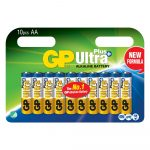 Batería AA Alkalina Ultra Plus 1.5V Carton 10 Und. Marca GP