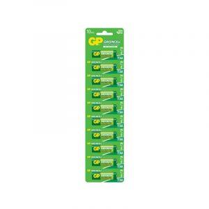 Baterías AA 1.5V Green Cell Cartón 10 Piezas Marca GP
