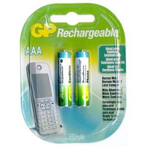 Baterías AAA Recargable para teléfono 650mAh Marca GP