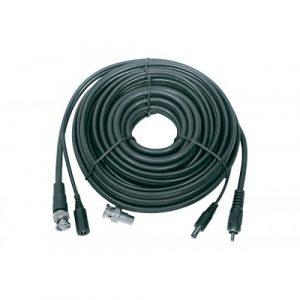 Cable Nippon America  Coaxial + Voltaje P/ CCTV 50'