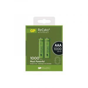 Batería AAA Recargable 1000mAh Carton 2 Piezas Marca GP