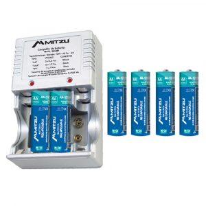 Cargador De Baterias Mitzu AA/AAA 2500 mah