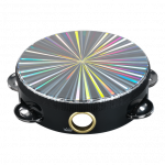 Pandero Zebra 6'' Diseño Radiante Color Negro