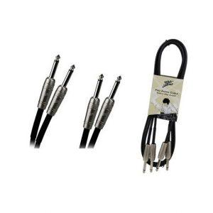Cable Zebra 2x1/4 a 2x1/4 stereo 6' calibre 24
